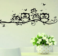 1Pc Home Decor Removable Art Vinyl Decal Owl Cartoon Wall Sticker Kids Room