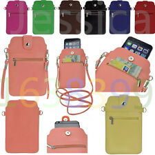 Universal Pocket Purse Shoulder Bag Pouch Under 6.3'' Phone Case Wallet Handbag