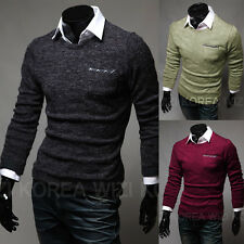 New Mens Casual Slim Fit Knit Casual Jumper Knitted Sweater Cardigan Warm Tops
