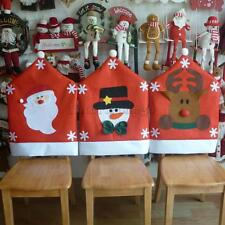 Red Christmas Theme Kitchen Dining Table Chair Back Cover Case Decor 60x50CM