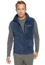 COLUMBIA MEN'S CATHEDRAL PEAK II FLEECE VEST NAVY SIZE LARGE NWT NEW
