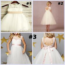 Flower Girl Dress Kid Party Pageant Princess Formal Wedding Bridesmaid GownDress
