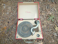 Vintage Melodier C-14-C Victrola style portable phonograph record player