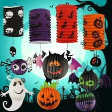 Halloween Pumpkin Bat Pattern Paper Party Decorations Yard Hanging Decor CHI