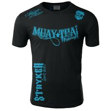 MUAY THAI STRYKER NEW MENS MMA SHORTS SLEEVE T SHIRT TOP UFC BOXING KARATE