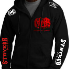 Stryker Full Zip Up Hoody Sweat Shirt Jacket Jumper UFC MMA FREE Tapout Sicker