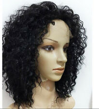 """100% Indian Remy Human Hair Curly Wave Lace Front/Full Lace Wig 8""""-22"""" Glueless"""