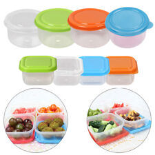8pcs Plastic Food Storage Containers Microwave Freezer Safe Crisper Boxes + LIDS