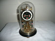 Vintage, Koma Anniversary Clock in Glass Dome, Needs Suspension Wire. VGC
