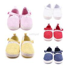 Cute Baby Kids Girls Hollow Out Crochet Shoes Infant Soft Sole Crib Shoes 0-12M