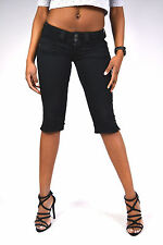 Sexy behind! PEPE Jeans VENUS T41 Crop Black - Capri Shorts Knee length - NEW