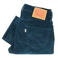 New Levi's Mens 511 1768 Slim Dark Blue Corduroys Trousers Pants Size 32 X 34