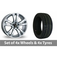 """4 x 15"""" Wolfrace DH Silver Alloy Wheel Rims and Tyres -  195/65/15"""