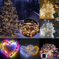 Solar Powered Starry LED Fairy String Light Outdoor Garden Xmas Tree Party Lamp