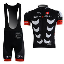 New Classics Mens Road Bike Sports Cycling Jersey Bib Shorts Padded Suit Black