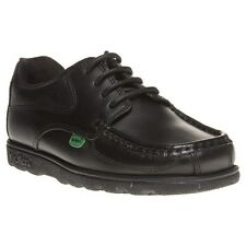 New Infants Kickers Black Fragma Lace Leather Shoes Up