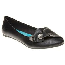 New Womens Blowfish Black Nicole Pu Shoes Ballerina Slip On