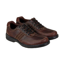 Clarks Sherwin Way Mens Brown Leather Casual Dress Lace Up Oxfords Shoes