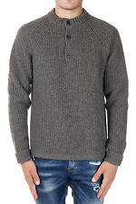 DSQUARED2 New Men grey Round Neck Wool alpaca Sweater jumper Made In Italy NWT