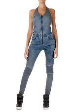 DIESEL Woman Sleeveless Denim HEAD Jumpsuit New with Tags and original