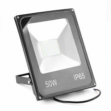 New IP65 Waterproof LED Black Wired Garden Yard Floodlights Light Lamp Building