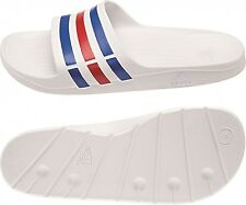 adidas Adilette Duramo Slide Bath Shoes Flip Flops White U43664