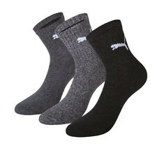 PUMA Men's Socks Shorts Crew 3-Pack Grey