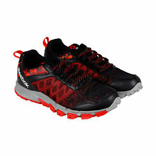 Reebok Reebok Trail Warrior Mens Black Mesh Athletic Lace Up Running Shoes