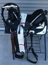 """15.5"""" NEW TEXAS STAR LEATHER WESTERN SILVER SADDLE PKG.(COMPLETE)"""