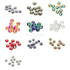 10Pcs Glass Resin Crystal Lampwork Beads Fits European Charm Bracelet DIY