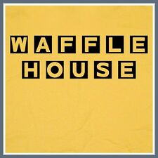Waffle House T SHIRT Bacon Diner Yellow vintage retro Coffee S M L XL XXL Tee