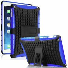 Heavy Duty Shockproof Rubber Kick Stand Case Cover for Apple iPad Air 1st Gen