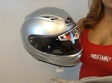 New Full Face Silver Kabuto Kamui Helmet With Inner Sun Shield ECE Approved