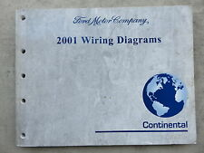 2001 Lincoln Continental Electrical Wiring Diagrams Service Manual OEM Factory