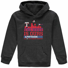 Majestic Texas Rangers Youth Charcoal 2015 Division Champions Locker Room Hoodie