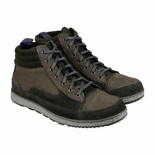 Cushe Burnside Mens Grey Suede & Leather High Top Lace Up Trainers Shoes
