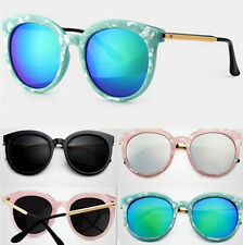 Womens Shades Retro Vintage New Round Frame Oversized Sunglasses Eyewear CHI