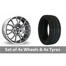 "4 x 19"" BBS CK Silver Alloy Wheel Rims and Tyres -  225/40/19"