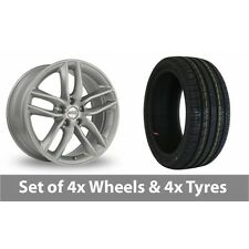 "4 x 19"" BBS SX Silver Alloy Wheel Rims and Tyres -  225/40/19"