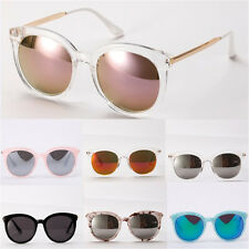Fashion Womens Oversized Round Frame Retro Vintage Shades Sunglasses Eyewear