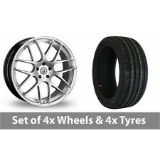 "4 x 20"" Cades Bern Accent Silver Alloy Wheel Rims and Tyres -  225/30/20"