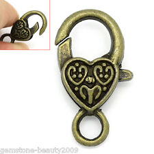 "Wholesale HOT Lobster Clasps Heart Bronze Tone 26mmx14mm(1""x4/8"")"