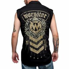 Wornstar Military Seargent Men's Clothing Rock Apparel Sleeveless Work Shirt