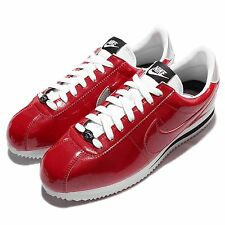 Nike Cortez Basic PREM QS Red White Patent Leather Mens Casual Shoes 819721-600