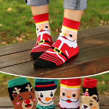 Women Soft Winter Socks Christmas Warm Soft Cotton Sock Cute Santa Claus Deer