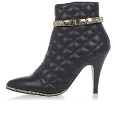 JEFFREY CAMPBELL Woman New Black Quilted Leather Ankle Boots Original