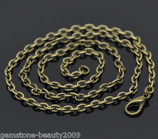 Wholesale HOT Bronze Tone Textured Chain Necklace 0.7mm Thick 18""