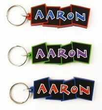 Boys name keyrings - names A-J - key ring - various names and colours available