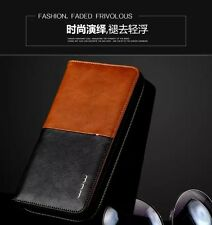 Luxury Men Universal Leather Phone Case Purse Pouch Wallet Card Pocket Handbag
