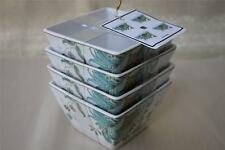 222 FIFTH ELIZA SPRING TURQUOISE FLORAL DESSERT/ALL PURPOSE BOWLS - S/4